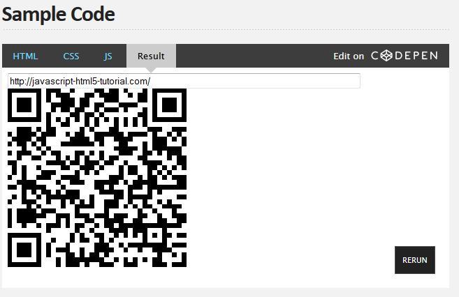 QR codes in JavaScript! - javascript-html5-tutorial com